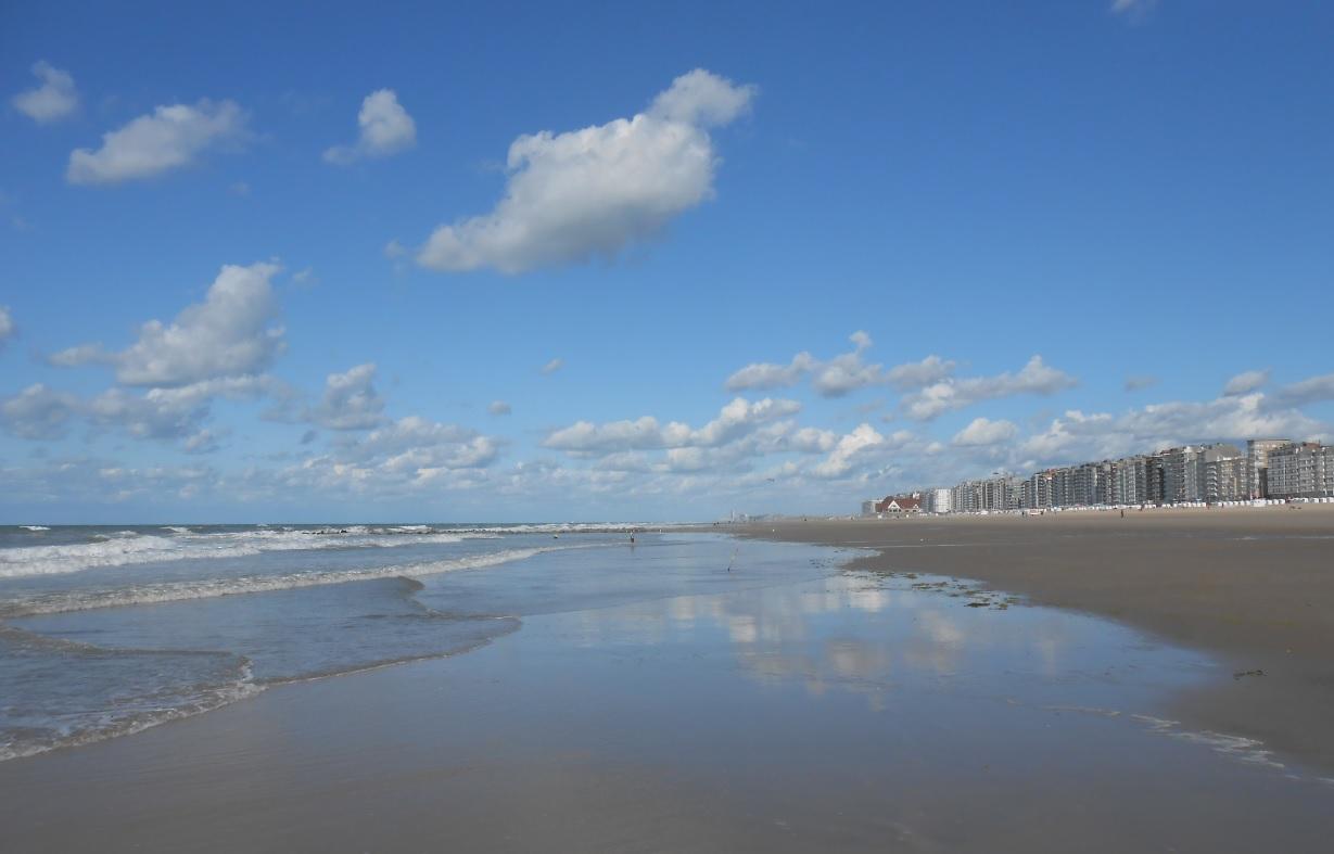 Sommer in Belgien am Strand