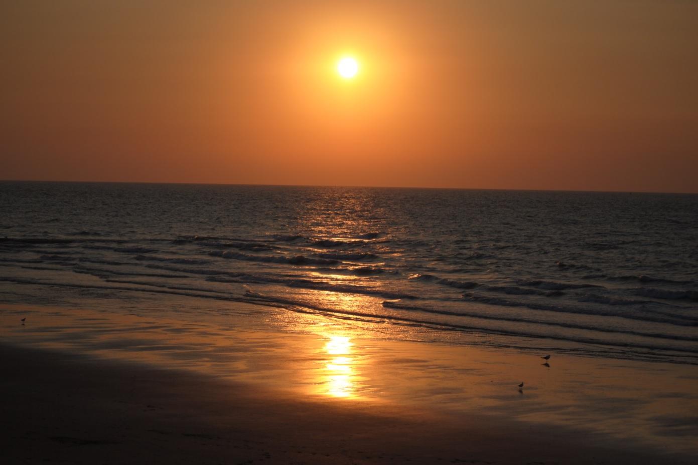 Sonnenuntergang in Belgien an der Nordsee